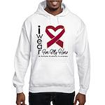 I Wear Ribbon Hero Myeloma Hooded Sweatshirt