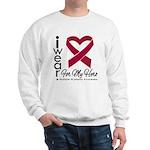 I Wear Ribbon Hero Myeloma Sweatshirt