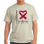 I Wear Ribbon Hero Myeloma Light T-Shirt