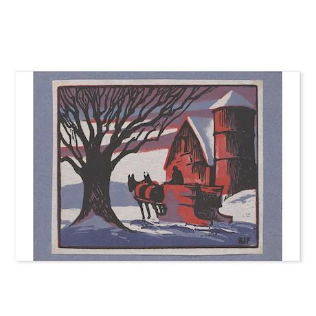 Snowy Scene By: Robert Freiman Postcards (Package