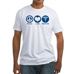 Peace Love Medicine Fitted T-Shirt
