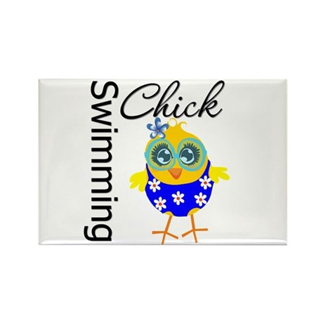 Swimming Chick Rectangle Magnet (10 pack)