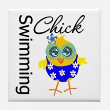 Swimming Chick Tile Coaster