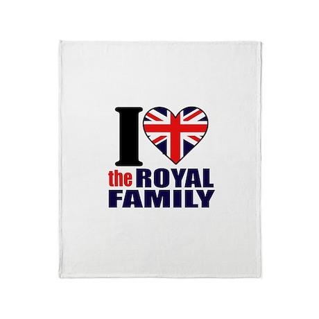 British Royal Family Throw Blanket