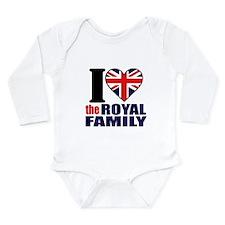 British Royal Family Long Sleeve Infant Bodysuit