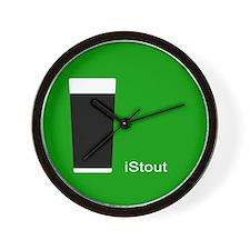 iStout Green Wall Clock