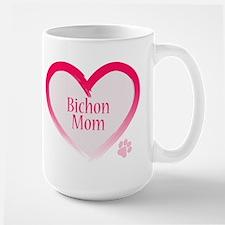 Bichon Pink Heart Mug