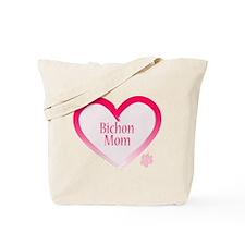 Bichon Pink Heart Tote Bag