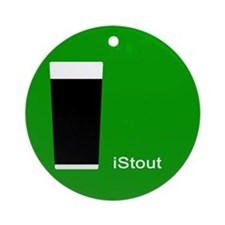 iStout Green Ornament (Round)