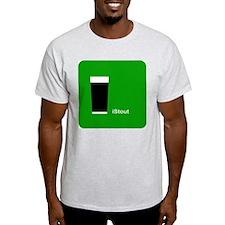 iStout Green Ash Grey T-Shirt