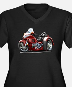 Goldwing Maroon Trike Women's Plus Size V-Neck Dar