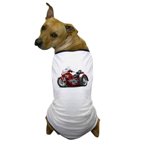 Goldwing Maroon Trike Dog T-Shirt