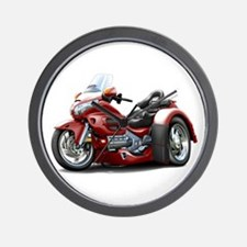 Goldwing Maroon Trike Wall Clock