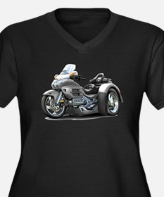 Goldwing Grey Trike Women's Plus Size V-Neck Dark