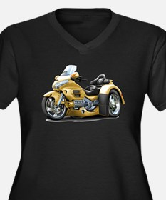Goldwing Gold Trike Women's Plus Size V-Neck Dark