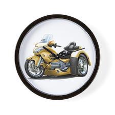 Goldwing Gold Trike Wall Clock