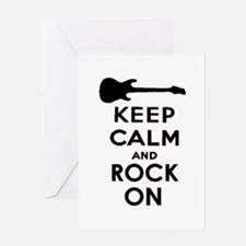 ROCK ON Greeting Cards