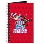 Christmas Elf and Reindeer with Gifts Journal