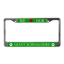 Green We Love Our Giant Schnauzers Frame