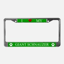 Green I Love My Giant Schnauzer Frame