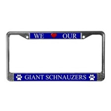 Blue We Love Our Giant Schnauzers Frame