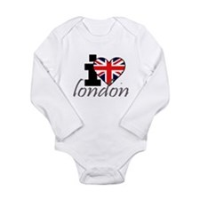 I Love London Long Sleeve Infant Bodysuit