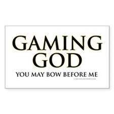 Gaming God Rectangle Decal