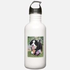Bernese Soccer Puppy Water Bottle