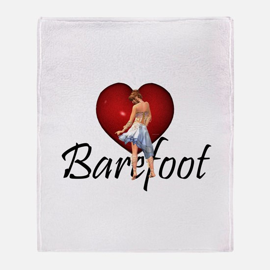 Barefoot Dance Throw Blanket