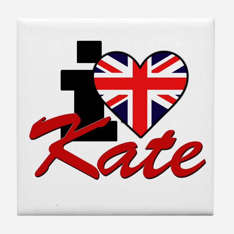I Love Kate - Royal Family Tile Coaster