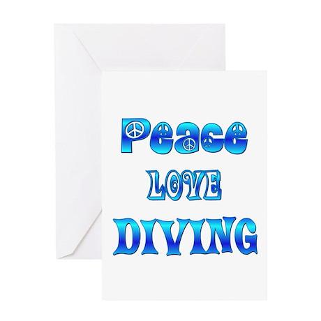 Diving Greeting Card