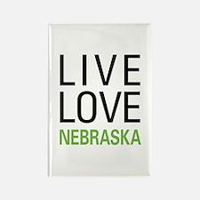 Live Love Nebraska Rectangle Magnet