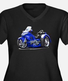 Goldwing Blue Trike Women's Plus Size V-Neck Dark