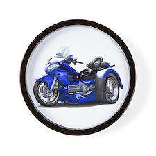 Goldwing Blue Trike Wall Clock