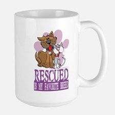 Rescued Is My Favorite Breed Large Mug