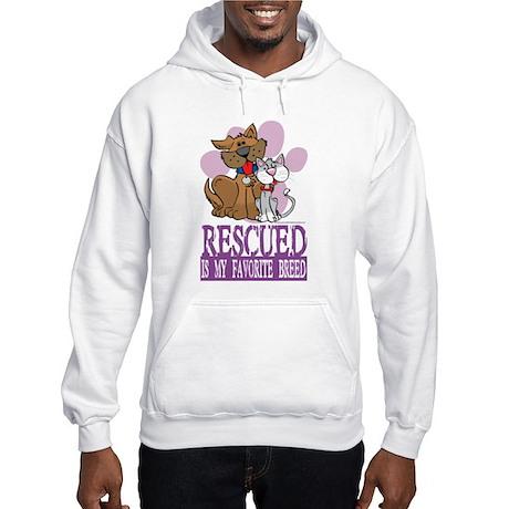 Rescued Is My Favorite Breed Hooded Sweatshirt