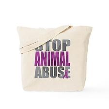 Stop Animal Abuse(Paw) Tote Bag
