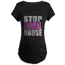 Stop Animal Abuse(Paw) T-Shirt