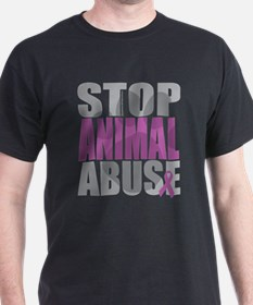 Stop Animal Abuse(Paw) T-Shirt