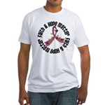Faith Hope Matter Myeloma Fitted T-Shirt