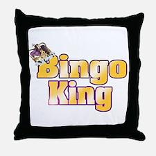 Bingo King Throw Pillow