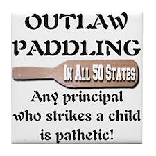 Outlaw Paddling It's Pathetic Tile Coaster