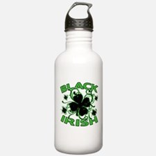 Black Shamrocks Black Irish Water Bottle