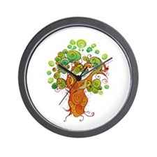 Peaceful Tree Wall Clock