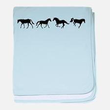 Unique Horses baby blanket