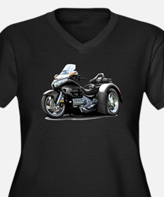 Goldwing Black Trike Women's Plus Size V-Neck Dark