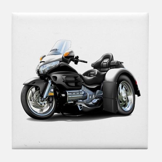 Goldwing Black Trike Tile Coaster