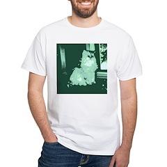 Pop Art Gray Long-haired Cat Shirt