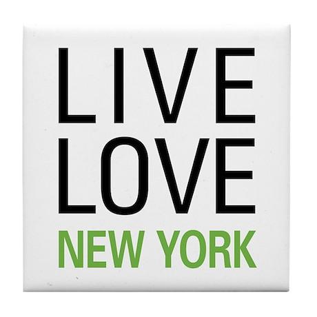 Live Love New York Tile Coaster