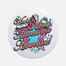 Worlds Most Awesome Abuelita Ornament (Round)